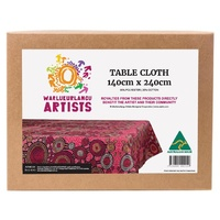 Warlukurlangu Arts Aboriginal design Tablecloth - Emu Dreaming