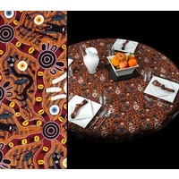 Bulurru Tablecloth (Round) - Bush Tucker
