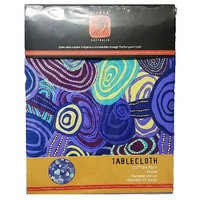 Jijaka Tablecloth (Round) - Firestones Purple