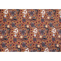 Bulurru Aboriginal Art Tablecloth (Small/Supper) - Bush Tucker
