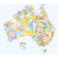 Large Laminated - Aboriginal Australia Wall Map