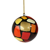 Better World Aboriginal Art Lacquered Xmas Ball Decoration - Puli (Stones)