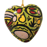 BWA Heart Xmas Decorations (Large) - Ngurunderi Looking for His Sons