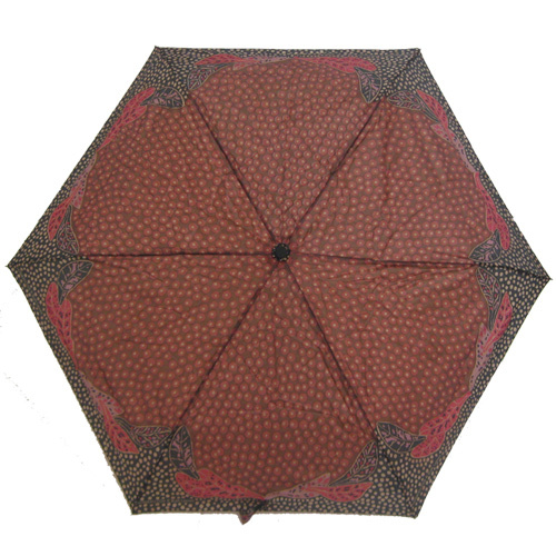 Outstations Folding Umbrella - Bush Leaves (Red