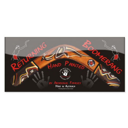 Carded Returning Boomerang - 35cm [Design: Traditonal]