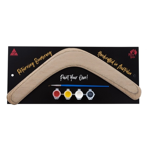 Paint Your Own 3ply Aboriginal Returning Boomerang Kit
