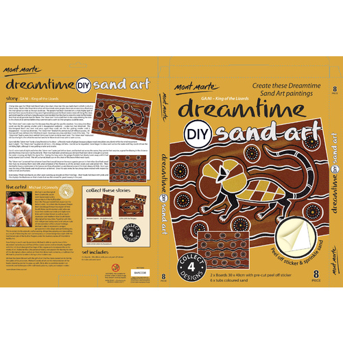 DIY Dreamtime Aboriginal Art Sand Art Kit - Frilly Neck Lizard