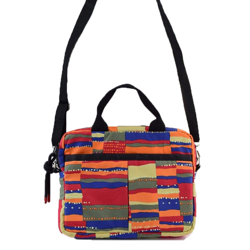 Jijaka Aboriginal Art Canvas Crossover Bag - Rockface