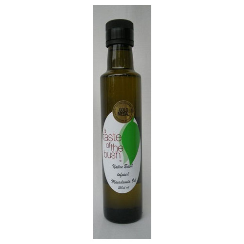 Native Basil infused Macadamia Oil 250mls