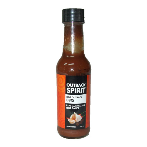 Outback Spirit Hot Outback BBQ Native Sauce 160mls