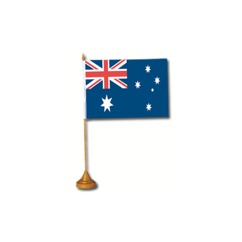 Australian Single Desk Flag & Stand