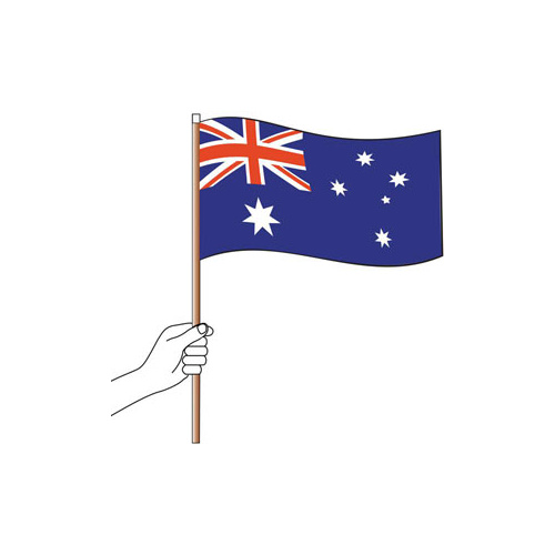 Australian Handheld CLOTH Flag (300mm x 150mm)