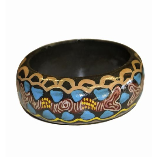 Keringke Art Lacquered Bangle (4cm) - My Country