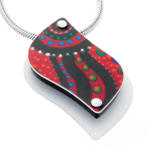 Allegria Handmade Pendant - Swimming After Rain