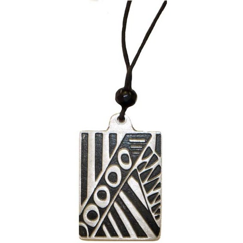 Iwantja Metal Pendant - Tjukula (Rectangle)