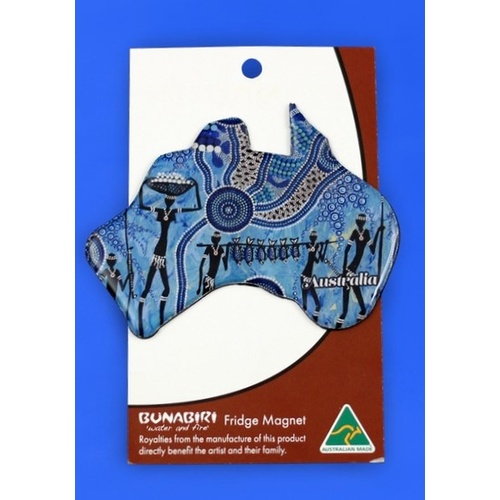 Bunabiri Fridge Australia Map Magnet - Hunters & Gatherers Reef