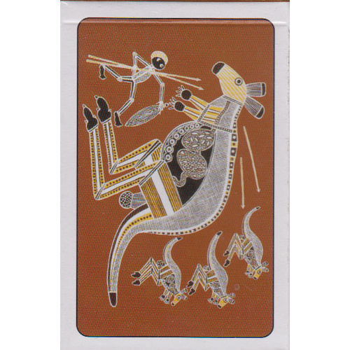 Aboriginal design Playing Cards [Design: Kangaroo]