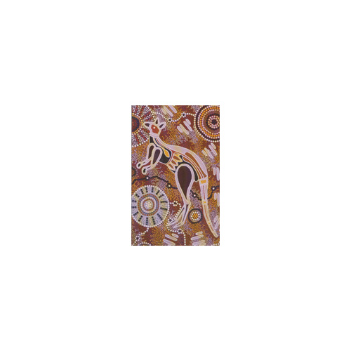 True Blue Aboriginal Small Notepad  - Emu & Kangaroo