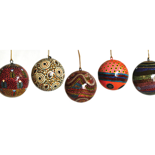 BWA Lacquered Xmas Decorations - Balls (Asstd Designs)