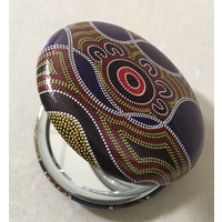 Hogarth Aboriginal Art Round Compact Mirror - Twin Rivers