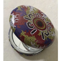 Hogarth Aboriginal Art Round Compact Mirror - Waterholes