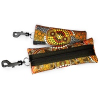 Bunabiri Aboriginal Art Neoprene Eyewear Case - Colours of the Land