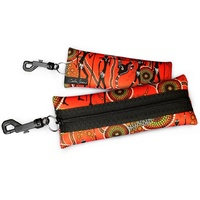 Bunabiri Aboriginal Art Neoprene Eyewear Case - Hunters & Gatherers Land