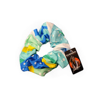 Bunabiri Aboriginal Art Cotton Hair Scrunchie - Rainbow Reef