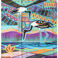 Cotton Handkerchief - Aboriginal Jabiru