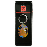 Jijaka Aboriginal Art Boxed Metal Keyring - Navigation