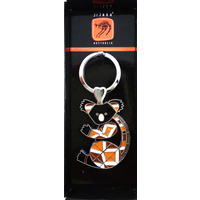 Jijaka Aboriginal Art Boxed Metal Keyring - Koala