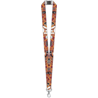 Bulurru Aboriginal Art Lanyard - Bush Tucker Tan