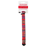 Warlukurlangu Aboriginal Art Lanyard - Dogwood Tree Bean Dreaming