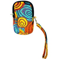 Jijaka Aboriginal Art Mobile Phone Case/Utility Pouch - Firestones