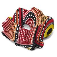 Dezigner Aboriginal design Hair Scrunchie - Coming Together