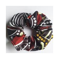 Dezigner Aboriginal design Hair Scrunchie - Land