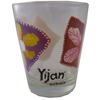 Yijan Aboriginal Shot Glass - Waterlillies
