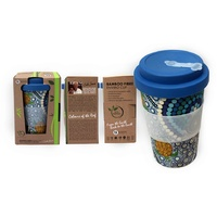 Bunabiri Bamboo Fibre Enviro Travel Coffee Mug (400ml) - Colours of the Reef