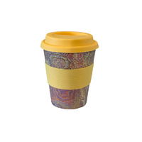 Aboriginal All Natural Bamboo Eco Travel/Coffee Mug (225ml) - Emu Dreaming
