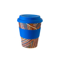 Aboriginal All Natural Bamboo Eco Travel/Coffee Mug (225ml) - Rainbow Snake Dreaming