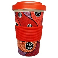 Hogarth Arts Eco Bamboo Reusable Travel Mug (430ml) - Central Land