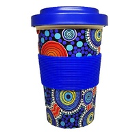 Hogarth Arts Eco Bamboo Reusable Travel Mug (430ml) - The Journey