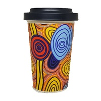 Hogarth Arts Eco Bamboo Reusable Travel Mug (430ml) - Skipping Stones
