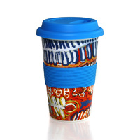 Aboriginal Bone China Eco Travel Mug - Two Dogs Dreaming
