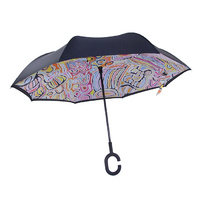 Warlukurlangu Aboriginal Art Inverted Umbrella - Mina Mina Dreaming