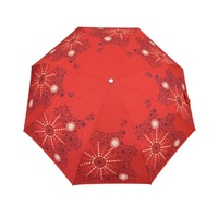 Warrina Aboriginal design Folding Umbrella - Seven Sisters (Red)