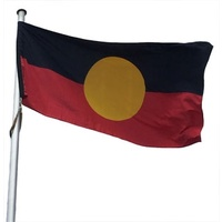 Australian Aboriginal Flagpole Flag (SMALL) - Knitted Polyester