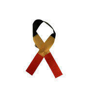 Aboriginal Satin Ribbon Pin (Pkt 5)