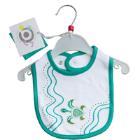 Muralappi Dreamytime Aboriginal design Cotton Baby Bib - Yalnga the Turtle