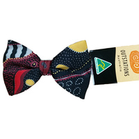 Outstations Aboriginal Art Polyester Bowtie - Norman Cox (Red)